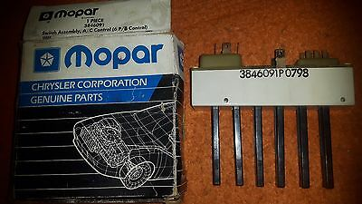 NOS Mopar #3846091 A/C & Heat 6 position Switch, Chrysler/Dodge/Plymouth 1975-79