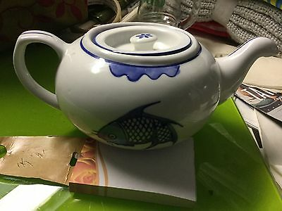 Choice of 2 Porcelain blue and white teapots, VGUC hardly used