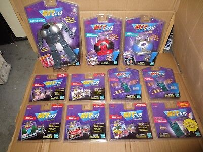 LOT - Tiger Hit Clips Micro DANCE BOT BOOMBOX MUSIC N SYNC PINK FM CARTRIDGE NEW