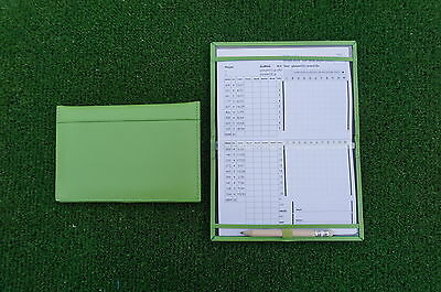 Miclub A5 Std Green leather golf scorecard holder - Original and still the Best