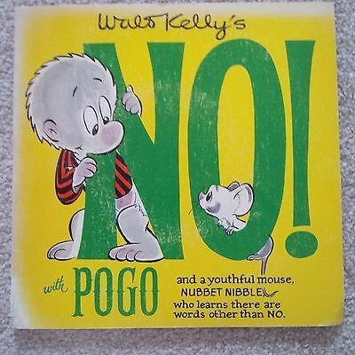 Vintage NO WITH POGO & Nubbet Nibble by Walt Kelly 1969 Book & 45 RPM Record EXC