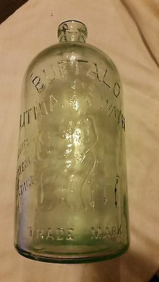 BUFFALO LITHIA WATER bottle (lady with pitcher)