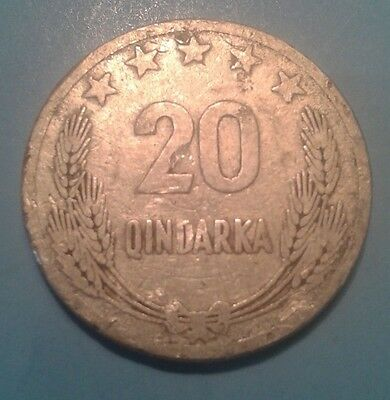 Albania 20 Qindarka Commemorative coin 1969 (25 years since Liberation)