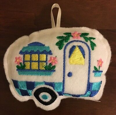 Handmade Caravan Design Felt Embroidered Decoration/ Pin Cushion