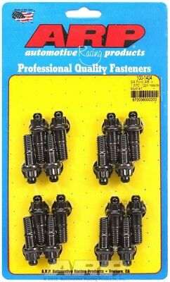 """ARP Header Stud 1.670"""" 12 Point Nuts Black Oxide Ford 16 pc P/N 100-1404"""