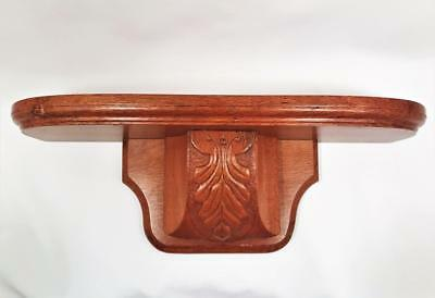Vintage Hand Made Carved Corbel Silky Oak Wall Shelf