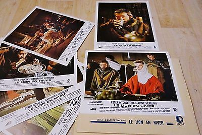 Set Of 6 Original Lobby Cards From The Lion In Winter - Peter O'toole