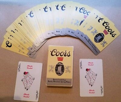 Coors Premium Bridge Size Playing Cards Adolph Coors Company USPCC Made in USA