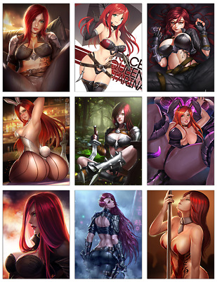 "LEAGUE OF LEGENDS - Katarina 9-pc Stickers Set - 2.5""x3.25"" (PS4, XBOX, GAME)"