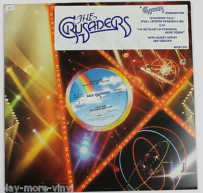 "CRUSADERS I'm So Glad I'm Standing Here Today 12"" vinyl 1981 JOE COCKER  playsNM"
