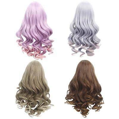 4X Long Wavy DIY Wig Hair Hairpiece for 18'' American Girl Dolls Accessories