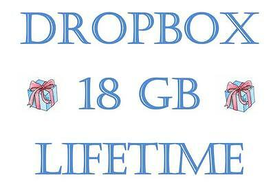 Upgrade Dropbox account to 18GB