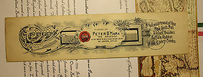 "Antique Newfoundland Peter O'mara The ""druggest"" Comb Envelope - Pharmacy - Rare"