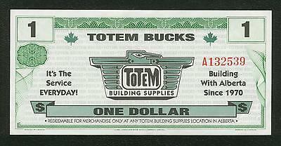 TOTEM BUCKS  Money Vintage note  one dollar TOTEM BUILDING SUPPLIES