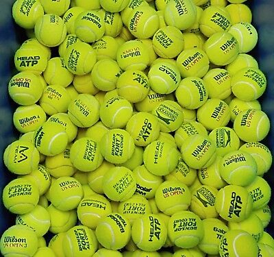 Used Grade 1 Tennis Balls-15 20 30 40 50 60- Ball Games / Dog Toy.Machine Washed