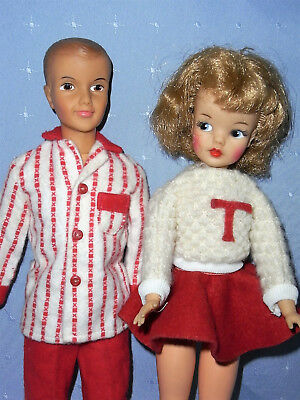 Vintage 1960s Ideal Tammy & Ted Dolls with Original Clothes