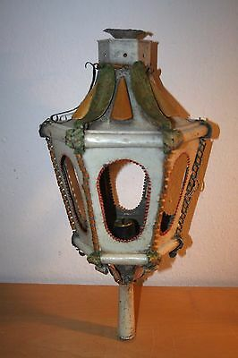 ANTIQUE 18th TOLE WARE CANDLESTICK LANTERN - VERY RARE