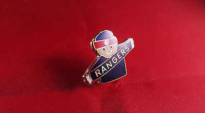Rangers  Supporter With Scarf  Badge