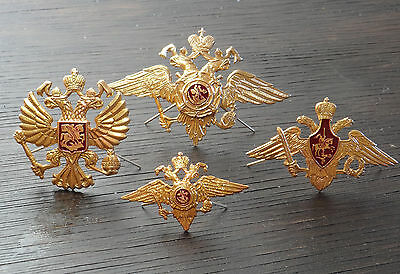 4 PCS Soviet Russian Army USSR Military Eagle Crown Badge for Hat / Cap badge /