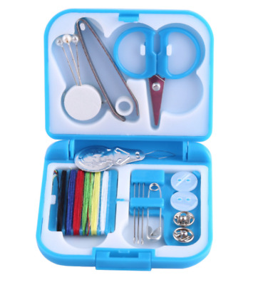 Butterfly Compact Travel Pocket Size Sewing Mending Kit - Blue