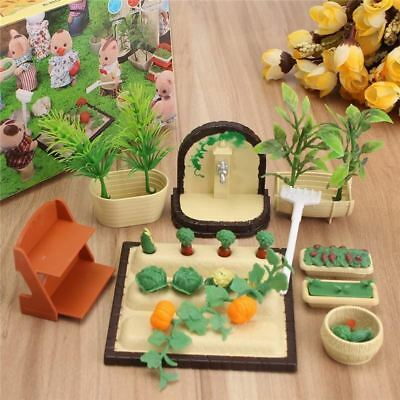 Miniatures Gardening Vegetable Flowers Food Furniture Sets Doll House Accessorie