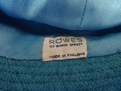 "Girls Rare Vintage ""Rowes of Bond Street"" Greenish Wool Hat Kennedy Favorite"
