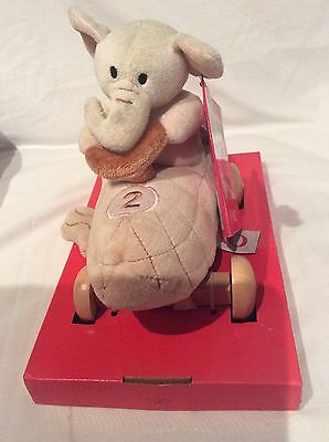 FAO Schwartz Elephant Baby Pull Toy Plush Stuffed Animal