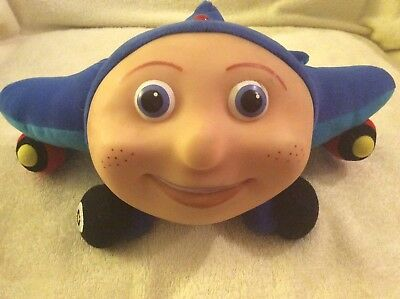 Kidpower Jay Jay The Jet Plane Blue Airplane W/Viinyl Face Plush Toy