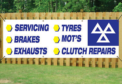 MOT TEST & REPAIR CENTRE GARAGE SIGN BANNER waterproof PVC with Eyelets NM008