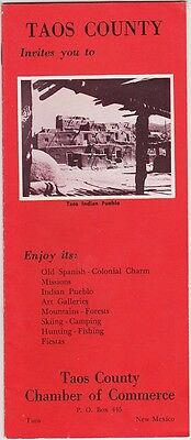 1950's Taos County New Mexico Promotional Brochure