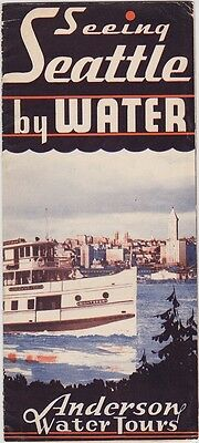 1930's Seeing Seattle By Water Tours Brochure