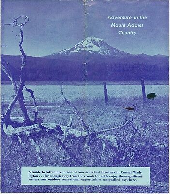 1960's Mount Adams Country Guide Brochure