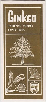 c1970 Ginko Petrified Forest State Park Brochure
