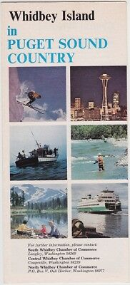 1970 Whidbey Island Puget Sound Promotional Brochure