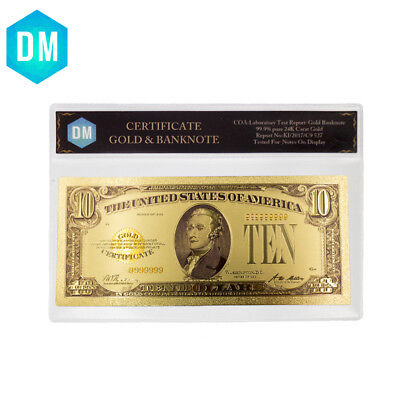 American Color Banknote 24k Gold Foil 1928 Year 20 Dollar Bill Note with Sleeve