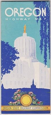 1957 State Issue Road Map Of Oregon