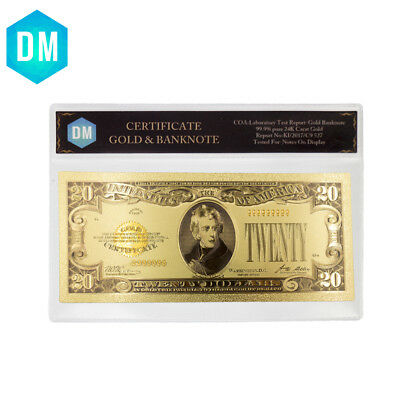 1928 Year 20 Dollar 24k Gold Banknote Collectible Gold Foil Note Money Artwork