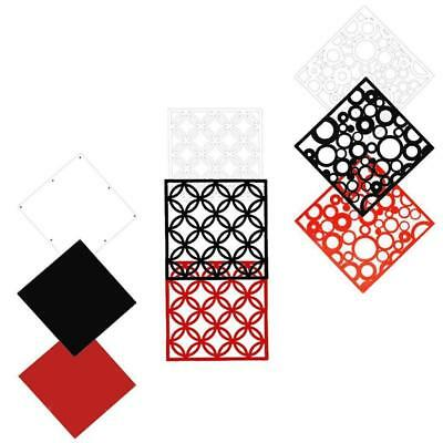 4pcs Hollow Room Divider Folding Screens Space Partition Wall Hanging Decor