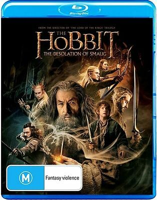 Hobbit - The Desolation of Smaug (Blu-ray, 2014, 2-Disc Set) Brand New & Sealed