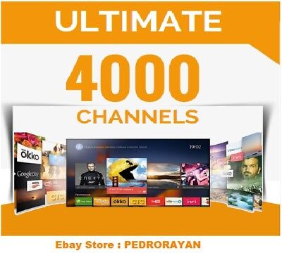 ULTIMATE PACKAGE IPTV SUBSCRIPTION 3 DAYS Smart TV, iOS, Android, Kodi, MAG,M3U
