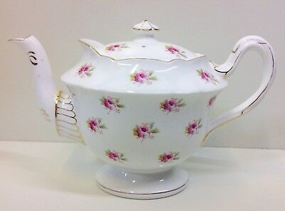 "Wileman Gainsborough Shape ""Sprig of Roses"" Pattern Tea Pot."