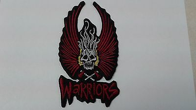 1 pc WING SKULL AXES WARRIORS design emb. patch sew/iron-on