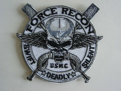 """1 piece -New """"M"""" size USMC Force Recon embroidered  patch hook back"""