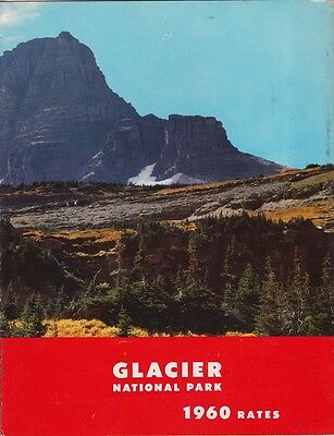 1960 Glacier National Park Lodging Rates Brochure