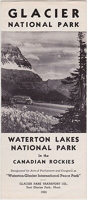 1953 Glacier National Park Bus Tours Brochure