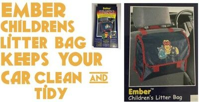 Children's Car Litter Bag Keep Your Car Clean And Tidy New Free Delivery