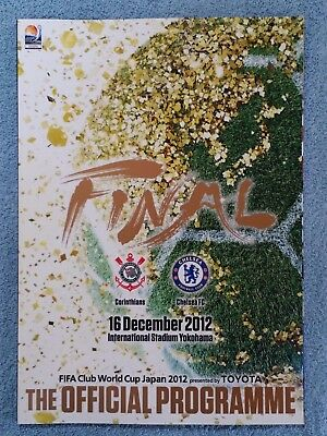 2012 - FIFA CLUB WORLD CUP FINAL PROGRAMME - CORINTHIANS v CHELSEA