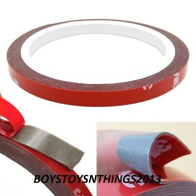 3M x 5MM, 10MM, 20MM AUTO ACRYLIC FOAM DOUBLE SIDED ADHESIVE MOUNTING  TAPE