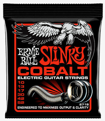 Ernie Ball Skinny/Heavy Slinky Cobalt Electric Strings. Gauge: 10-52