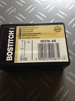 Bostitch HCFN-40 15 Gauge High Carbon Galvanised Finish Nails 40mm -  Qty 1500